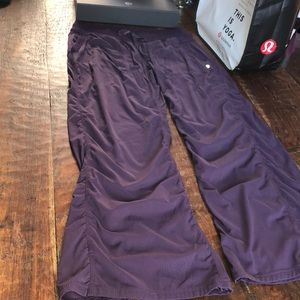 lululemon athletica Pants - LULULEMON Unlined Studio Pant in Black Grape